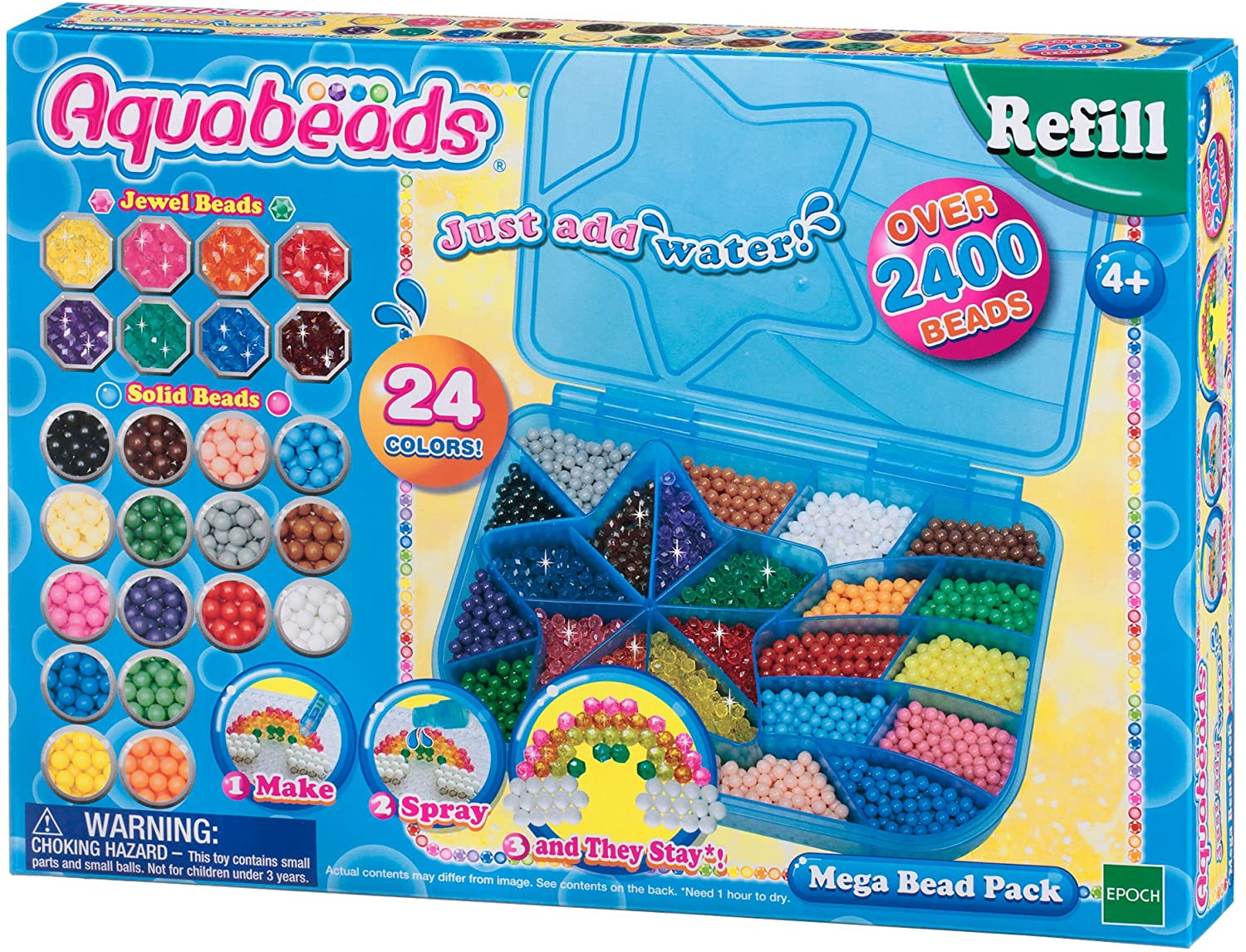Aquabeads-79638 Mega Bead Pack, multicolor (Epoch para Imaginar 79638) , color/modelo surtido